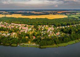 Panorama-Luftaufnahme Gildenhall & Ruppiner See