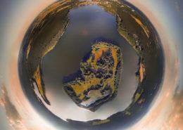 Luftaufnahme Lindow & Gudelacksee (Tiny Planet Effekt)